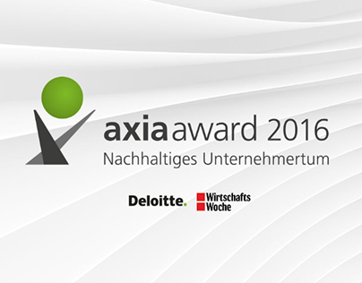 Axia Award by Deloitte and WirtschaftsWoche