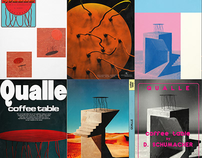 "Poster Series - ""Qualle"" coffee table"