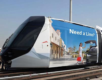 Tesla Limo-RTA-Dubai Taxi Campaign | Art Direction