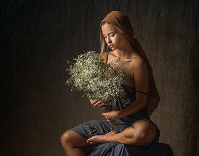 Dani com Flores