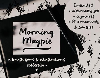 Morning Magpie brush font
