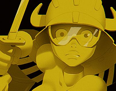 Robot Arm vs. Dissected Samurai Girl
