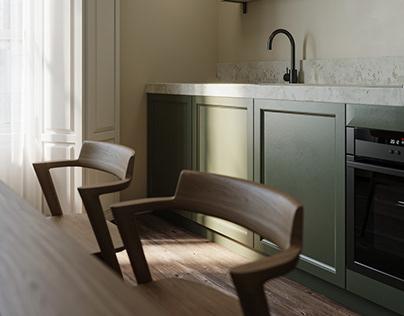 Green|Kitchen Design
