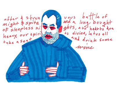 Editorial Wine Illustrations