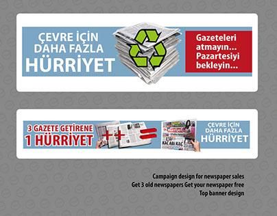 Campaign design for newspaper sales