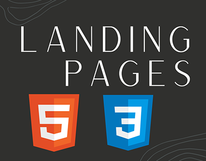 Landing pages using html css