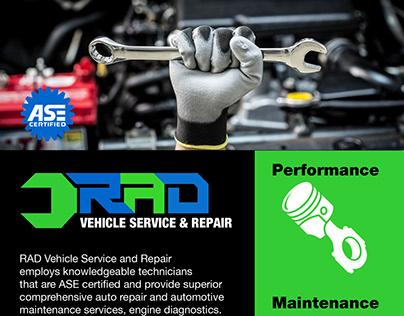 RAD Vehicle Service & Repair | Logo & Flyer