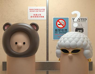 Mr. Bear's Elevator Adventure熊先生的电梯奇遇记