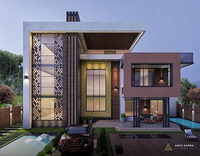 Modern Exterior Villa in KSA