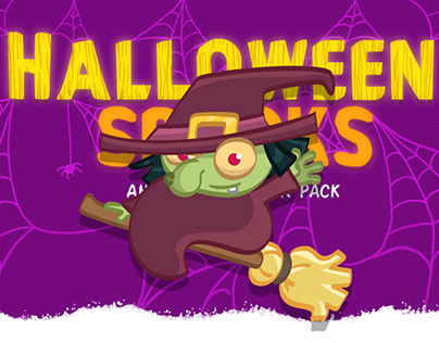 Halloween Spooks / Animated Sticker Pack