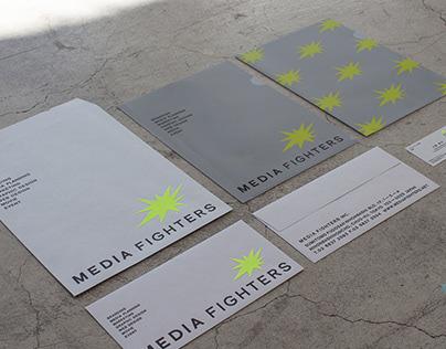 Media Fighters logo & stationery