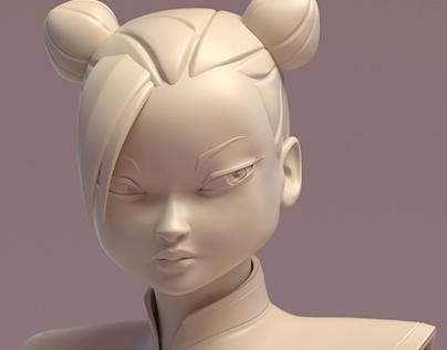 Chun Li Fan Art ----- Sculpt