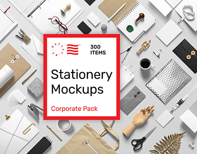 Corporate Stationery PSD Mockups Pack