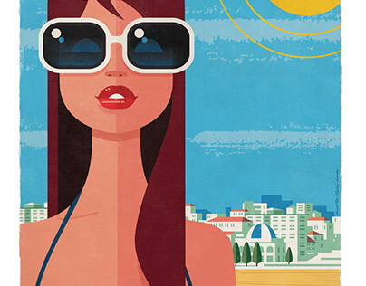 Coogee Beach NSW Travel Poster