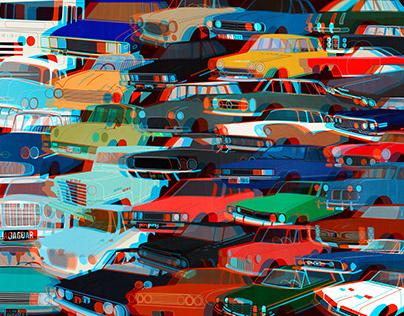 Traffic jam gif+3d version artwork
