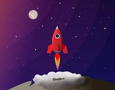Red little rocket