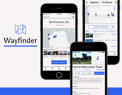 Wayfinder travel app (iOS)
