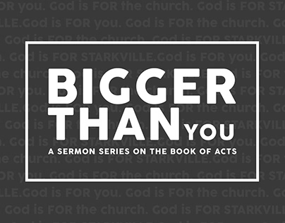 Bigger Than You Sermon Art