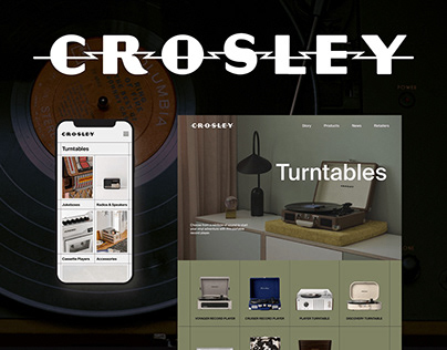 Crosley Radio | Redesign Website