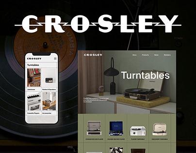 Crosley Radio | Redesign Website