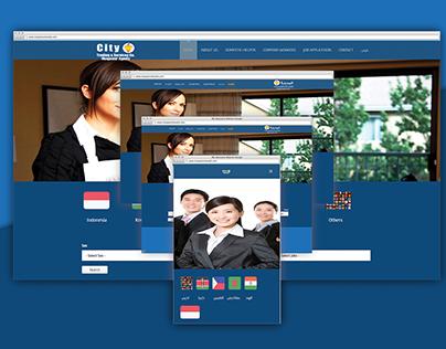 City website UI