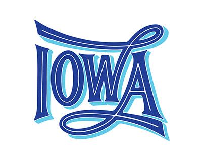 IOWA Lettering