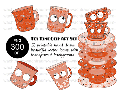 Clipart Sets, Vector Icons, Hand-Drawn