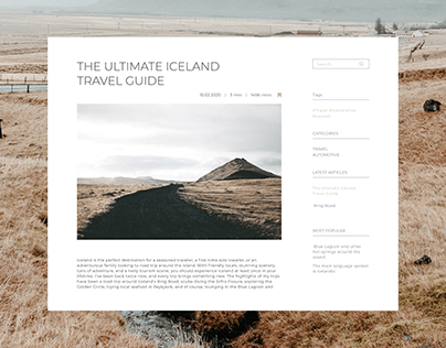 Travel Blog   ux/ui
