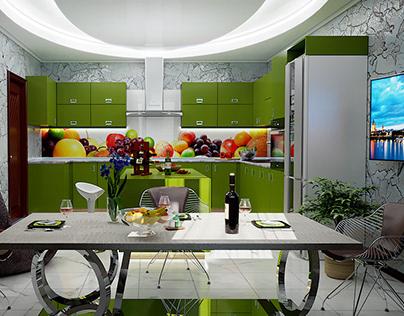 A small kitchen, 3ds Max+Corona