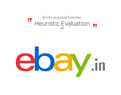 Ebay India, Heuristic Evaliation