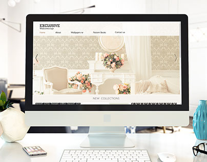 Website design for Exclusive Wallcoverings UK