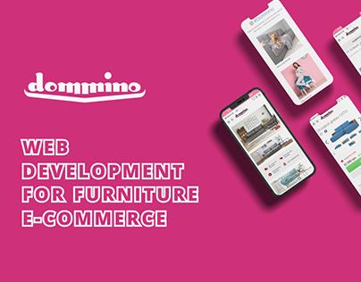 """Web Development for E-Commerce """"Dommino"""""""