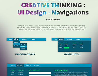 Creative Thinking : UI Design