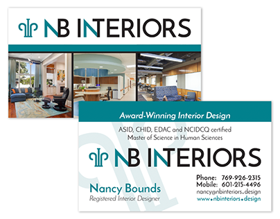 NB Interiors Business Cards