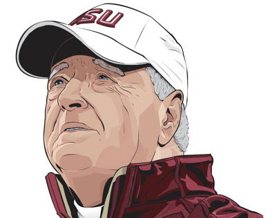 COMMISSION - BOBBY BOWDEN & COACH ANDREWS POSTER