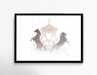 MME Horses Illustration