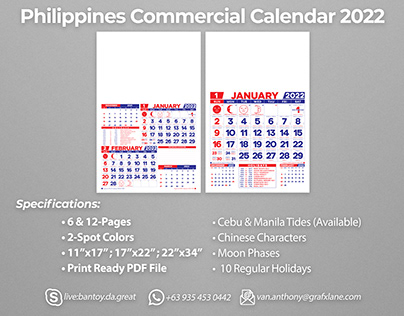 Philippines Commercial Calendar 2022