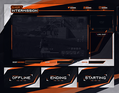 FREE TWITCH STREAM OVERLAY TEMPLATE 2019#10 DOWNLOAD