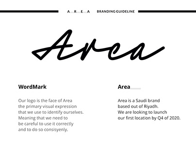 Area Brand Style Guide