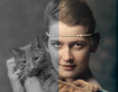 Colorization: Portraits with Buzzer the Cat, 1912-1918