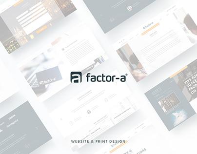 Factor-A - Website Design