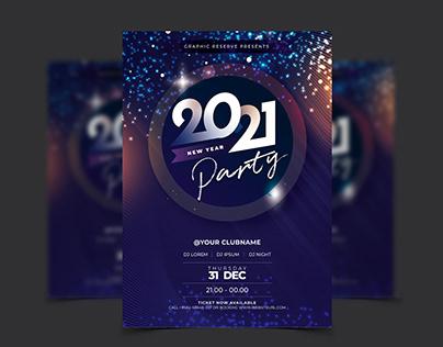 Party Celebration 2021 Flyer Template