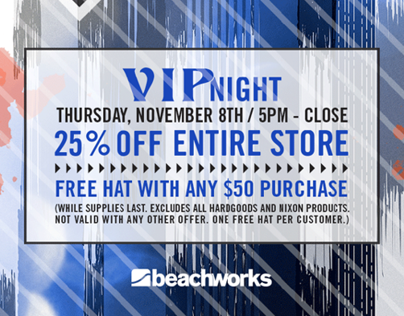 Billabong & Partners VIP/Locals Night Promotion