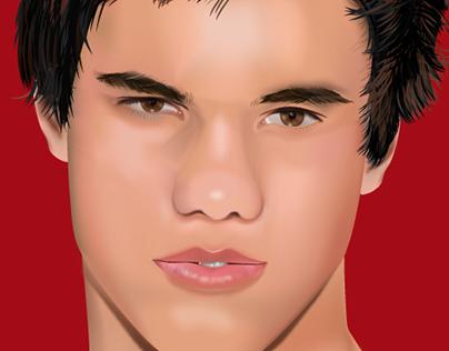 Malla en Illustrator Taylor Lautner