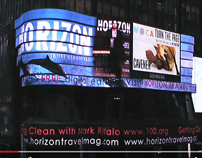 Times Square Billboard for Turn the Page Exhibit