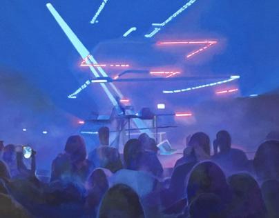 Neon Lights, Vitalic Concert.