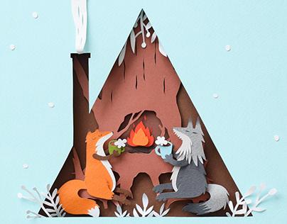 Cozy Winter | Paper art