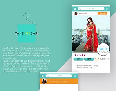 Take My Sari Branding, UI/UX