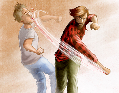 Fight sequence illustration