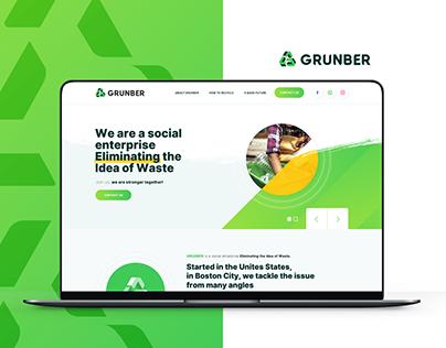 Grunber - Landing Page Design